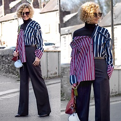 Renia - H&M Trousers, Pacze Sunglasses, Primark Roll Neck - All Stripes