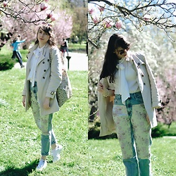 Ana B - Bershka Jacquard Mom Fit Jeans, Adidas Stan Smith Shoes, Melimelo Sunglasses - Spring colors