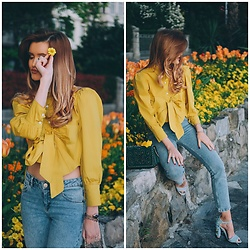 Cristina Gheiceanu - Romwe Blouse - My color...yellow