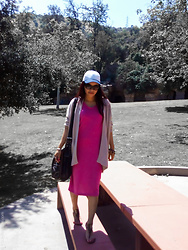 Lily S. - Cardigan, Dress, Cap, Sandals - Keepin It Cozy... // Instagam: @pslilyboutique