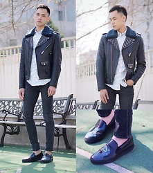 Chris Su - Sandro Leather Jacket, Paul Smith Shoes - Bathe in the Sun