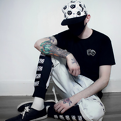 Ghouls - Urban Outfitters Tshirt, H&M Overalls - Fckit