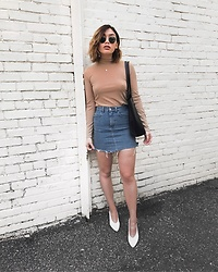 Elizabeth Strecher - H&M Skirt, Zara Shoes, Forever 21 Top - Spring Baby