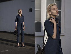 Magdalena M - Zaful Jumpsuit, Alexander Wang Heels, Dolce & Gabbana Bag - Denim look