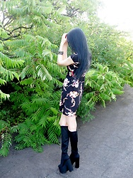 Natala An - Minkpink Dress, Yru Boots - Minkpink dress