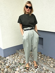 Anna Borisovna - Zara Top, Massimo Dutti Belt, Mango Pants, Mango Shoes - Green Mood