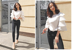 Christina Dafina - Shein Blouse - White blouse