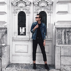 Andreja Andrejić - C&A Denim Jacket, H&M Pants, H&M Chelsea Boots, Bershka T Shirt, New Yorker Glasses - Spring Uniform ?
