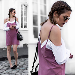 Catherine V. - Missyempire 2 In 1 Layered Dress, Hieleven Bag, New Look Mules, Ray Ban Glasses - Layering game