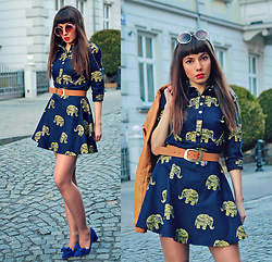 Jointy&Croissanty © - Vipme Dress - Elephant print dress