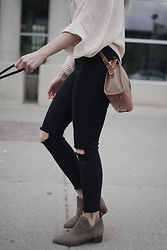 Alexa Jade Warren - Nine West Boots, Topshop Jeans, Dooney And Bourke Bag - Vintage