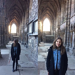Ana Vitória Gonçalves - Ellus Coat, All Saints Jacket, Hollister Jeans, Orcade Boots - Edinburgh