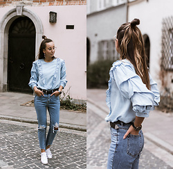 Guess What - Zara, Pull&Bear - DENIM DENIM