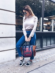 Tania - Julien Mcdonald Top, Céline Bag, Topshop Jeans, Vans Shoes, Porche Design Shades - Casual kinda day