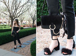 Taylor Smith - Are You Am I Bodysuit, Zara Jeans, Chloé Chloe Faye Bag, Steve Madden Shoes - Casual Chic in all Black