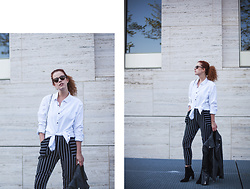 Deliah Alexandra - H&M Shirt, Edited Boots, Asos Pants - STRAIGHT & SIMPLE