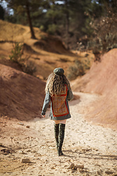 Alexe Bec - Doll Poupée Boho Military Jacket, Public Desire Over The Knee Boots, Brixton Cap - Walking in the desert with my boho jacket