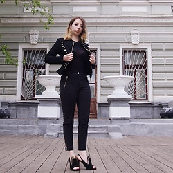 Ivana Braer - Beauty Jacket, Wolford Body, Oasis Trousers, Uterque Heels - Welcome to the Black Parade
