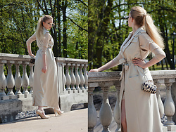 Milady Sandy - Lavish Alice Maxi Trench, Chicme Bodycon Dress - Elegance spring.