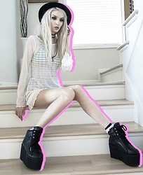 Jadethelibra - Tobi Dress, Killstar Boots, Goorin Brothers Hat, Forever 21 Gingham Set - Stair Dwelling