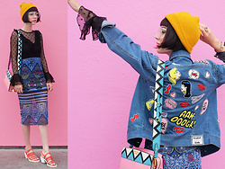 Amy Roiland - Betty And Veronica Jacket, 5ymedio Shoes - Pink on Pink