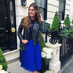 Stacey A. - Mango Skirt - Electric Blue