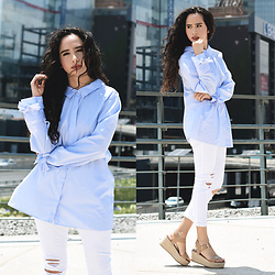 Attalia DASBEL - Zara Shirt, Bershka Denim, Steve Madden Shoes - THE OVERSIZE SHIRT