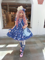 Melva Yan - Angelic Pretty Dream Sky, Angelic Pretty Dream Sky, Baby, The Star Shines Bright Bunny Ear, Angelic Pretty Melty Moon, Angelic Pretty Pink - Dream Sky @Kodachicon