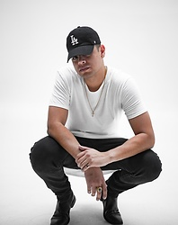 Adrian Gamboa - Chelsea Boots, Pacsun Black Jeans, Topman White Tee - Black & White