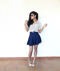 Siça Ramos - Romwe Blouse, Shein Skirt, Lightinthebox Shoes - Romantic