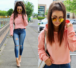 Terri L - Missguided Jumper, Mango Jeans, Missguided Shoes - PINK LADIES