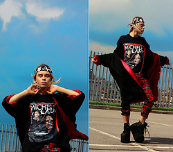 Milex X - Homage Tees T Shirt, Long Clothing Pants, Bond Street Exit Bandana - MICHELE LAMY