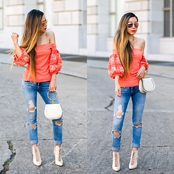 Sasa Zoe - Top, Necklace, Sunglasses, Jeans, Bag, Shoes - ROCK WITH IT