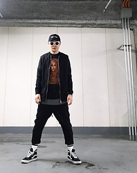 ★masaki★ - Kollaps Noise Music 実験音楽, Ch. No Collar Shirts Jacket, Converge Tee, Ch. Easy Pants, Vans Sk8hi - Trash style 155