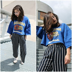 Elo' Cupcake - H&M Culottes, Thrift Shop Sweater, Converse Sneakers - Lust for life
