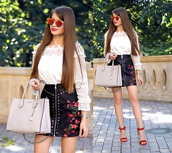 ZOYA Onlymyfashionstyle.blogspot.com - Michael Kors - LEATHER SKIRT