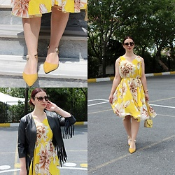 Rebel Takipte - Rosegal Yellow Dress, Jolly Chic Yellow Shoes - Yellow Like a Sun