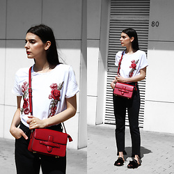 CLAUDIA Holynights - Shein Embroidered Tee, Vipme Bag, Dropp Mules - Embroidery