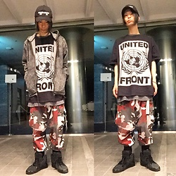 @KiD - United Front Big Tee, Rothco Red Camouflage, Puma × Hussein Chalayan, (K)Ollaps Noise Music, Rvca Chemical Denim Parka - Japanese Trash145