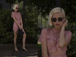 Magdalena M - Chi Playsuit - 90s sunnies and sheer lace