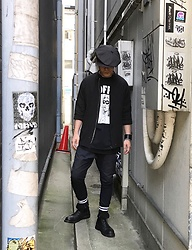 ★masaki★ - Newyork Hat Casquette, Ch. Shirts Jacket, Off! Music Tee, Odyn Vovk Dropcrotch, Dr. Martens Limited 10hole, Maison Martin Margiela Leaterblace - Trash style 162