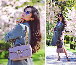 Intrigue U - Chloé Sunglasses, H&M Trench, Gucci Handbag, Massimo Dutti Shoes, The Kooples Blouse - Summer Trench