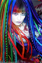 SarahTonin - Cypherlox Cyberlocks/Cyberlox, Sarahtonin Rainbow Hair, Top Rock Dog Collar, Hoody, Blazer - SarahTonin Cyber Look