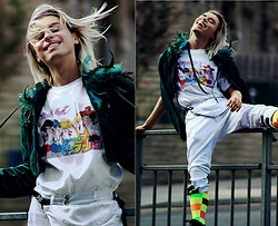 Milex X - 2point5dstreetwear T Shirt, Emmavielle Jacket, Long Clothing Pants, Samson Hosiery Socks - SAILOR MOON