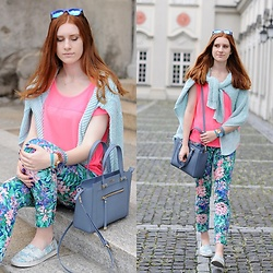 Ola R. - Zara Pants, Furla Bag, Toms Shoes - Too much colors