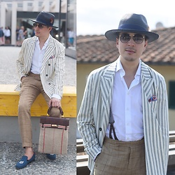 Carlo vd Broeck - Christys' London Navy French Panama Hat - Pitti Uomo 92: day 2