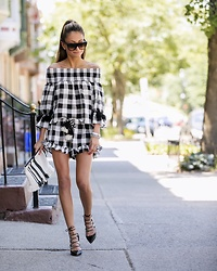 Lauren Recchia - Misa Gingham Top, Misa Gingham Shorts, Jimmy Choo Black Pumps - Go Gingham