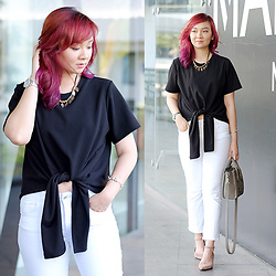 Jean Yu - Ate By Tatah Knot Top, Zara Crop Pants, Zalora Heels, Celine Bag - Knot Your Ordinary Top