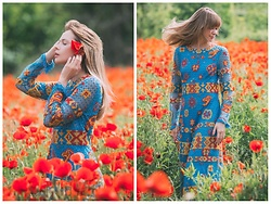 Anastasiia Masiutkina - Valentino Dress - Valentino dress and poppies