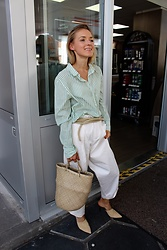 Anna Borisovna - H&M Shirt, Zara Pants, Zara Shoes - Mint & Beige Mix